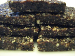 Raw Chocolate Cherry Energy Bars
